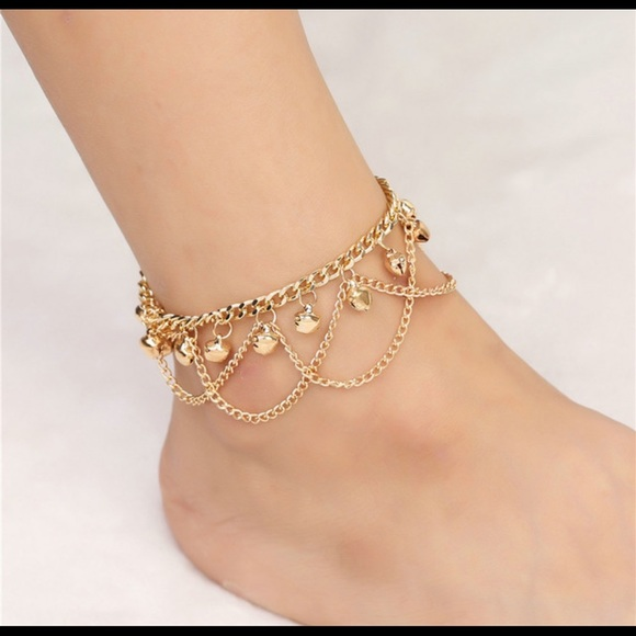 bridal heart product for anklets chain women jewelry anklet wholesale plated store gold bracelet leg foot